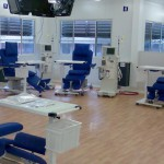 Treatment room with therapy chairs and table from Bionic
